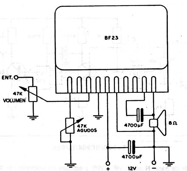 amplificador bf23  cir410s